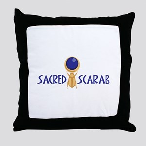 SACRED SCARAB Throw Pillow