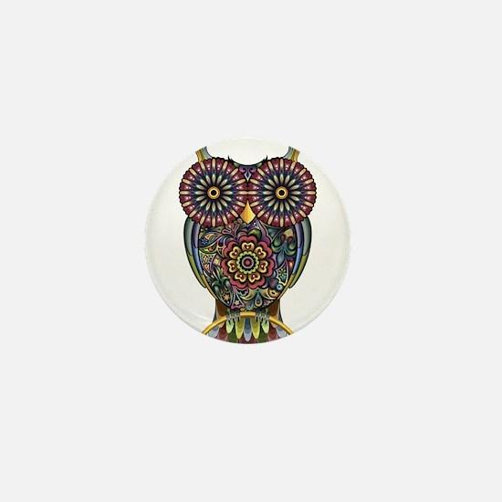 Vibrant Owl Mini Button (10 pack)