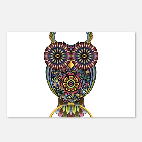 Vibrant Owl Postcards (Package of 8)