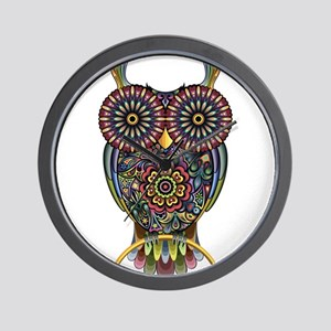 Vibrant Owl Wall Clock