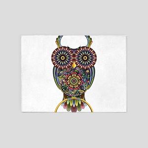 Vibrant Owl 5'x7'Area Rug