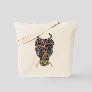 Vibrant Owl Tote Bag