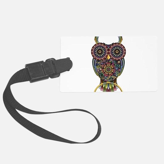 Vibrant Owl Luggage Tag