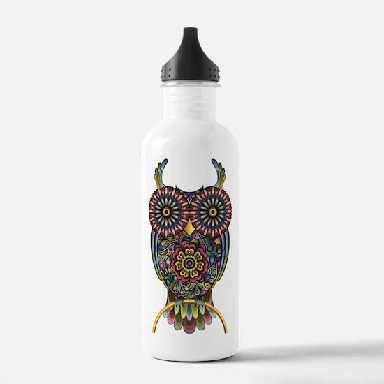 Vibrant Owl Water Bottle