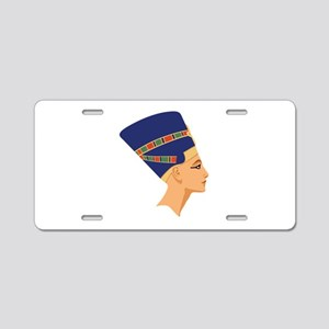 Egyptian Nefertiti Queen Aluminum License Plate