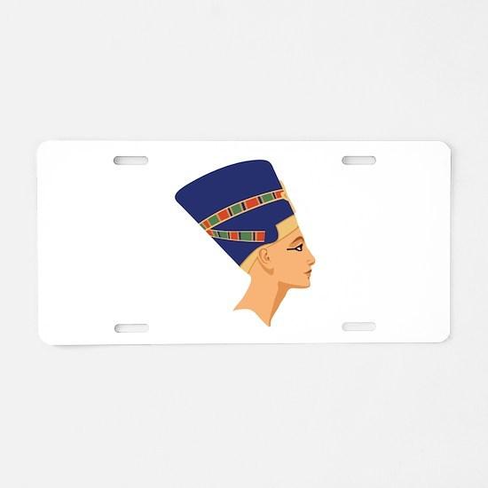 Egyptian Nefertiti Queen Aluminum License Plate