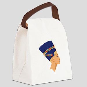 Egyptian Nefertiti Queen Canvas Lunch Bag