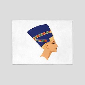 Egyptian Nefertiti Queen 5'x7'Area Rug