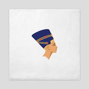 Egyptian Nefertiti Queen Queen Duvet