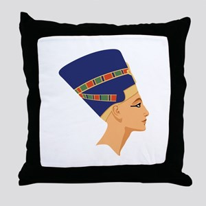 Egyptian Nefertiti Queen Throw Pillow