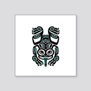 Teal Blue and Black Haida Tree Frog Sticker