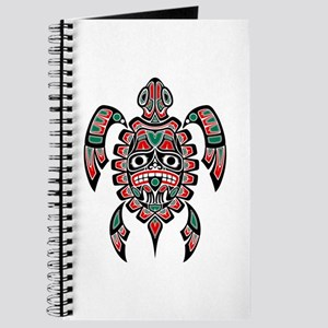 Red Green And Black Haida Sea Turtle Journal