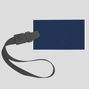 Dark Blue Thin Lines Luggage Tag