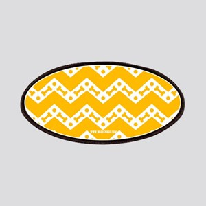 Cute Dog Bone Chevron Yellow, Teal, Red, P Patches