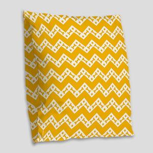 Cute Dog Bone Chevron Yellow, Burlap Throw Pillow