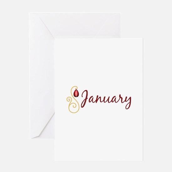 January Greeting Cards