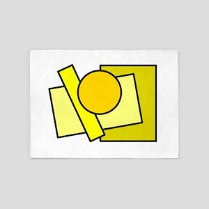 Color Squares Circle Design #2 (yellows) 5'x7'Area
