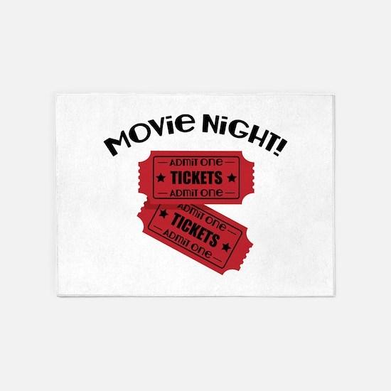 Movie Night! 5'x7'Area Rug