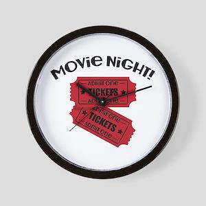 Movie Night! Wall Clock