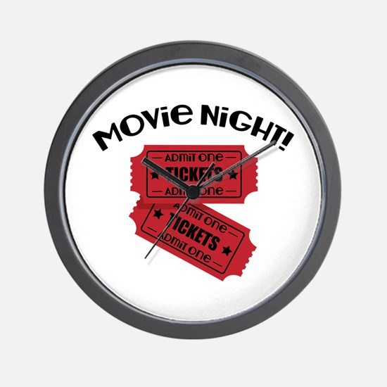 Movie Night! Wall Clock