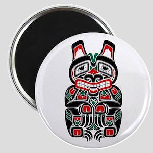 Red and Black Haida Spirit Bear Magnets