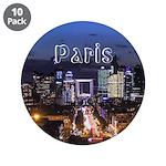 """Paris 3.5"""" Button (10 pack)"""