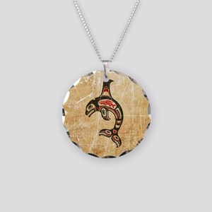 Scratched Red and Black Haida Spirit Killer Whale