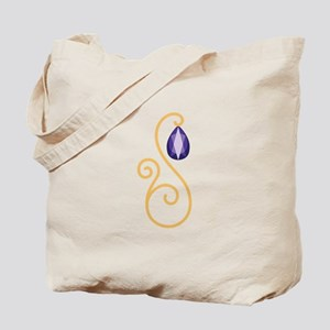 Amethyst February Month Text Tote Bag