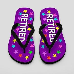 Purple Retired Flip Flops