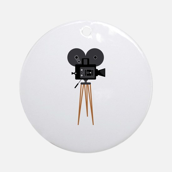 Film Reels Camera Movie Ornament (Round)