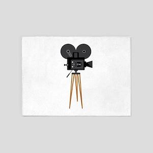 Film Reels Camera Movie 5'x7'Area Rug