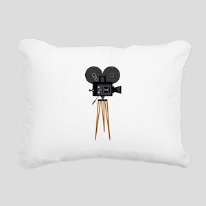Film Reels Camera Movie Rectangular Canvas Pillow