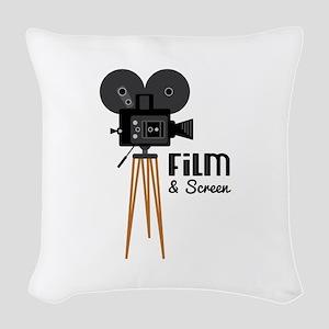 Film Screen Woven Throw Pillow