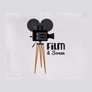 Film Screen Throw Blanket