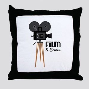 Film Screen Throw Pillow