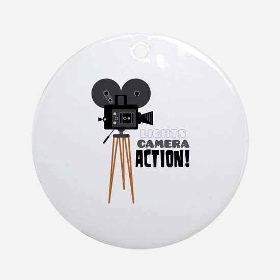 Lights Camera Action! Ornament (Round)