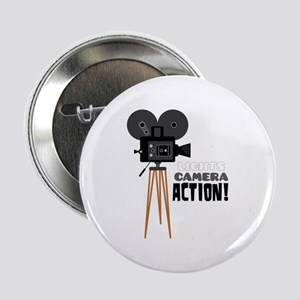 """Lights Camera Action! 2.25"""" Button"""