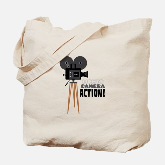 Lights Camera Action! Tote Bag