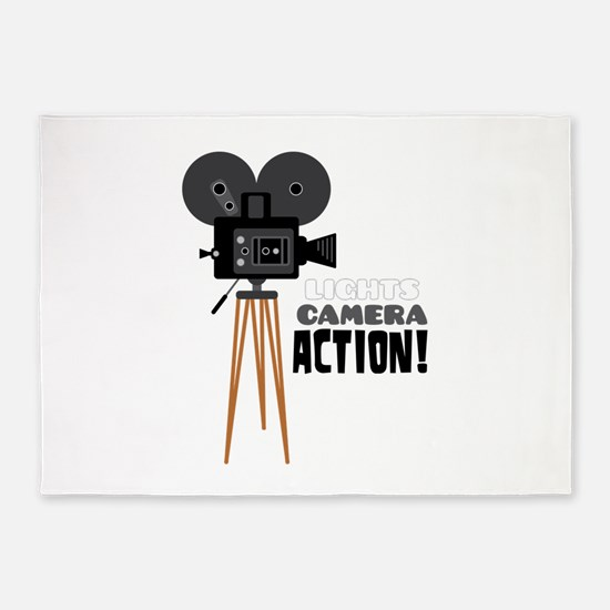 Lights Camera Action! 5'x7'Area Rug