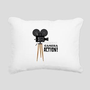 Lights Camera Action! Rectangular Canvas Pillow