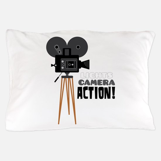 Lights Camera Action! Pillow Case