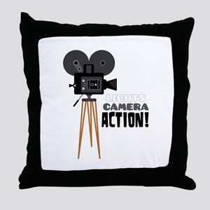 Lights Camera Action! Throw Pillow