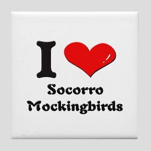 I love socorro mockingbirds  Tile Coaster
