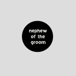 Nephew of the Groom Black Mini Button