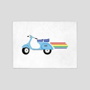 Rainbow Scooter 5'x7'Area Rug