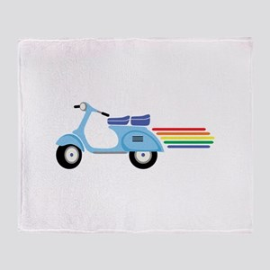 Rainbow Scooter Throw Blanket
