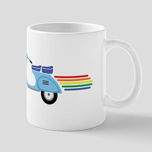 Rainbow Scooter Mugs