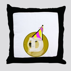 Party Doge Throw Pillow