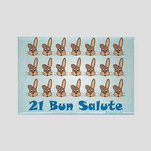21 Bun Salute Rectangle Magnet