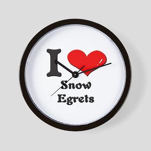 I love snowy egrets  Wall Clock